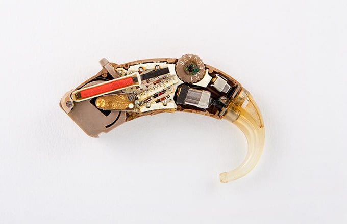 an inside of a hearing aid