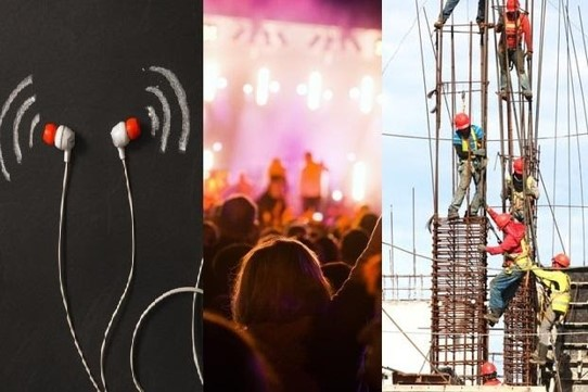 Loud music from earphones and concerts, and construction noise increases the risk of losing your hearing