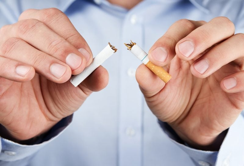 Quit smoking to improve hearing naturally